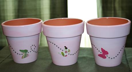 Ceramic Butterfly Pots