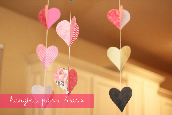 Heart Shape Paper Craft Love Concept Hot Air Balloons Flying With I