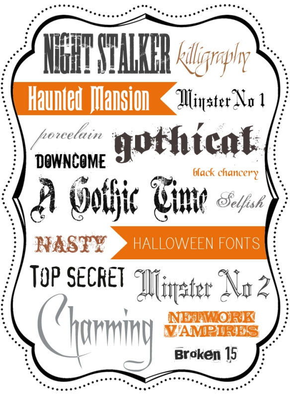A Round-Up of Free Halloween Fonts   The Year of Halloween