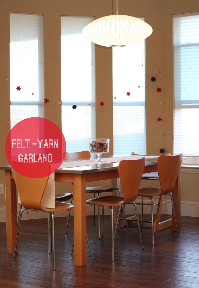felt and yarn garland