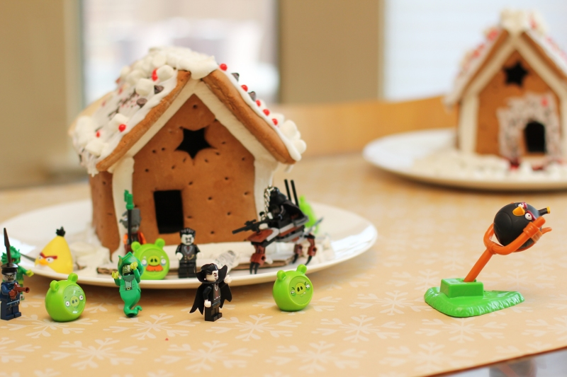 angry birds gingerbread houses
