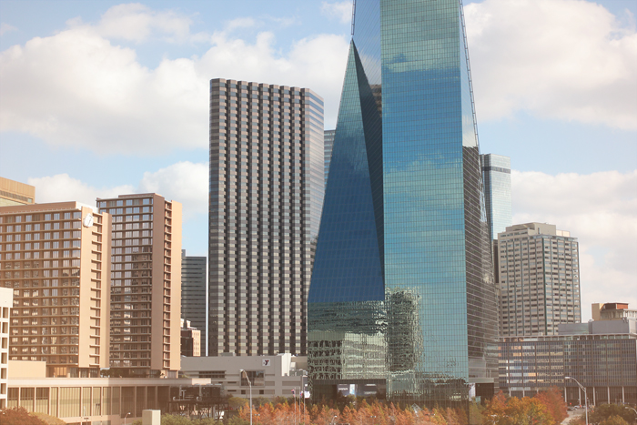 view from perot museum dallas
