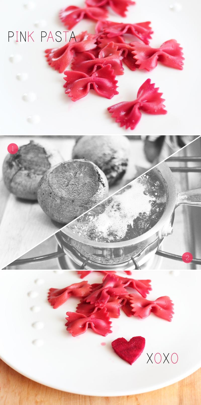 all-natural pink pasta
