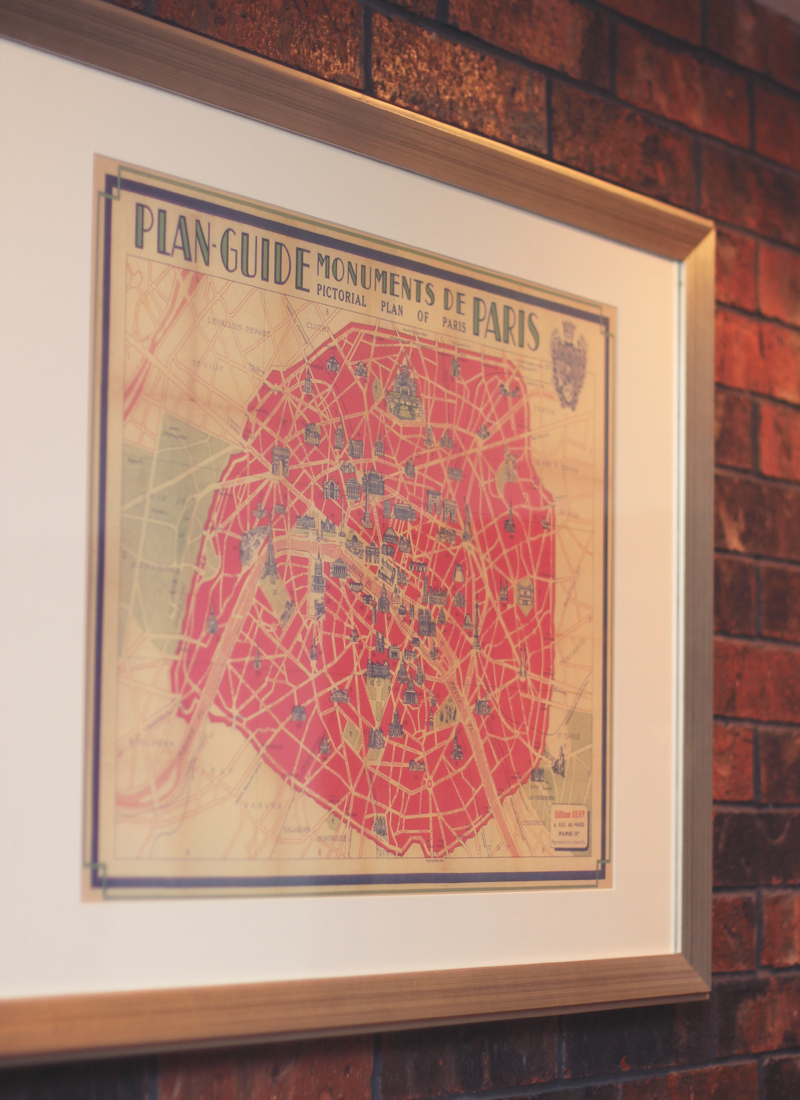 family room map decor