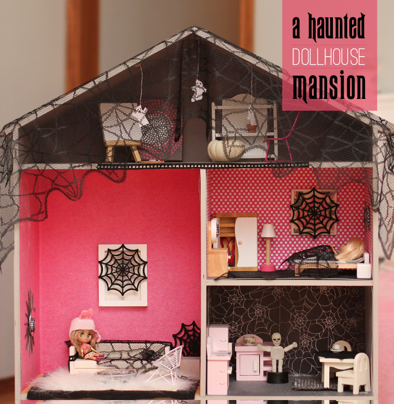 turn a dollhouse into a haunted mansion for halloween