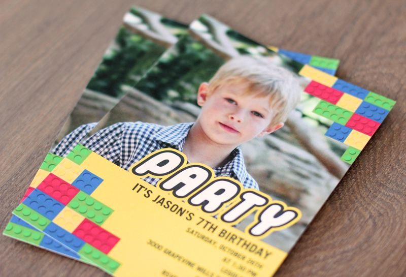 legoland birthday party invitations by Tiny Prints