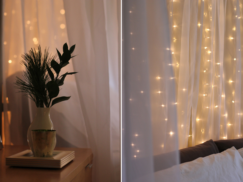Decorating with lights: bedroom lights