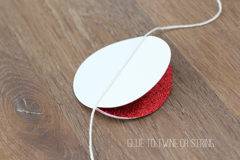 Create an easy paper ornament garland for the holidays