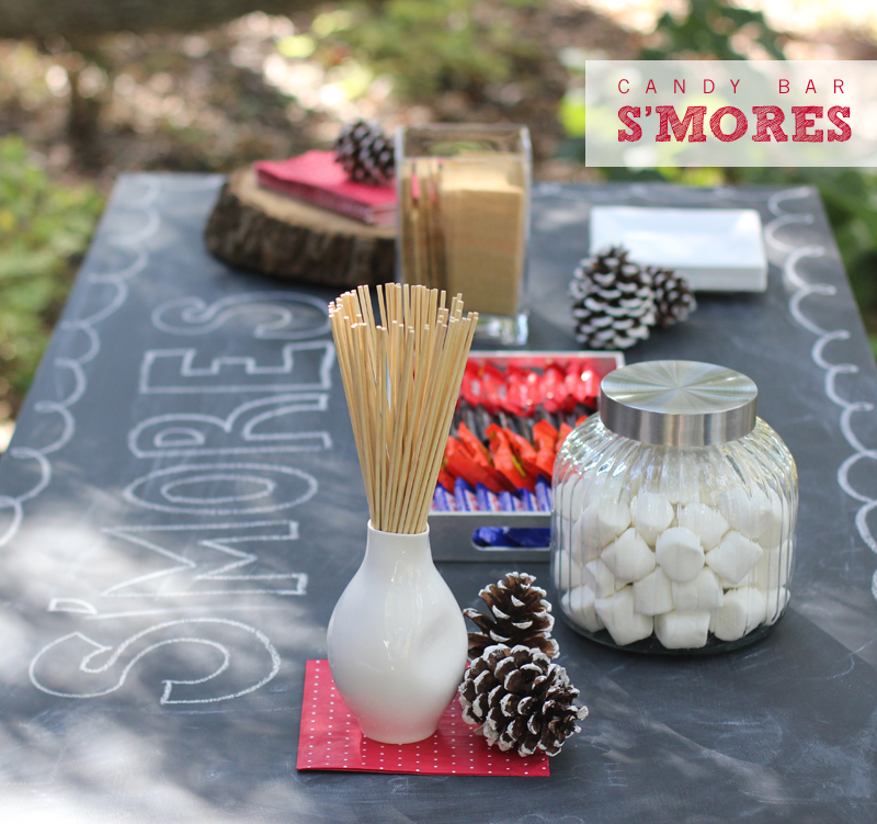candy bar s'mores