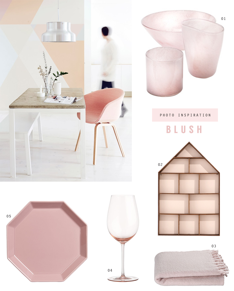 photo inspiration: the color blush in home decor